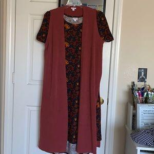 LuLaRoe dress and vest!!